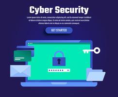 Ilustração de segurança cibernética vetor