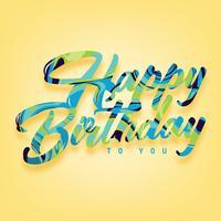 Feliz aniversário tipografia vector design
