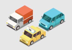 Vetor de conjunto de transporte isométrico