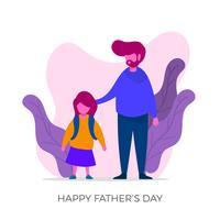 Dia com seu filho para o dia dos pais vetor