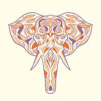 Ilustração de elefante pintado vetor