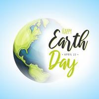 Fundo do dia mundial da terra vetor