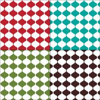 Padrões de azulejos arabesco sem costura colorida marroquina