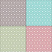 padrões geométricos de círculos interligados sem emenda vetor