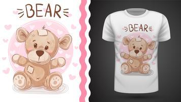 Urso bonito - idéia para impressão vetor