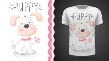 Cachorrinho bonito - ideia para o t-shirt da cópia.