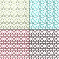 padrões de telha sem emenda de contorno marroquino ornamentado vetor