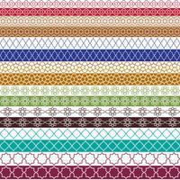 padrões coloridos de fronteira marroquina vetor