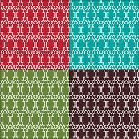 padrões de telha de contorno marroquino ornamentado vetor