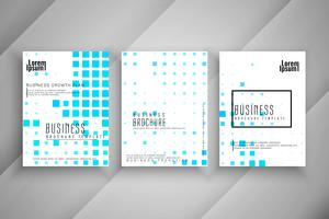 Abstract mosaic pattern Conjunto de modelo de folheto de negócios vetor