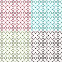 Padrões de azulejos marroquinos sem costura vetor