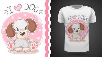 Cachorrinho bonito - ideia para o t-shirt da cópia. vetor