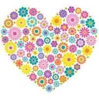 coração flor mod vetor