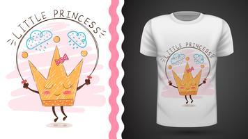 Coroa de ouro - idéia para impressão t-shirt. vetor