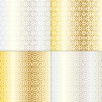 padrões marroquinos de prata e ouro vetor