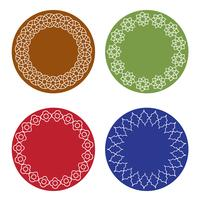 quadros marroquinos coloridos vetor