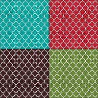 Padrões de telha sem emenda arabesco marroquino vetor
