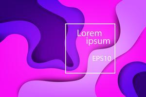 Capas abstratas modernas, onda colorida e formas fluidas fundo violeta