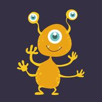 Personagem de desenho animado bonito monstro 005 vetor