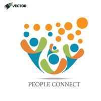 logotipo da equipe de pessoas vetor