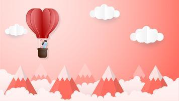Criativo do conceito de dia dos namorados de amor. vetor