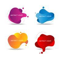 fluido colorido e fundo de emblemas de onda para design criativo