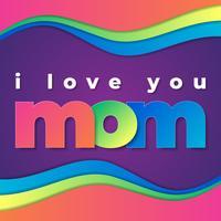 Cartão feliz do dia de mães