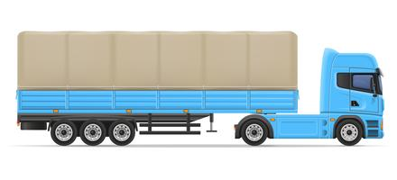 ilustração em vetor caminhão semi reboque
