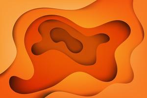 Capas abstratas modernas, onda colorida e formas fluidas fundo laranja vetor