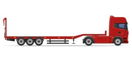 caminhão semi reboque para transporte de ilustração vetorial de carro vetor