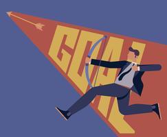 Ilustração de metas corporativas vetor