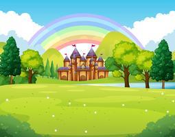 Castelo no reino distante vetor