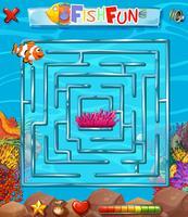 Jogo de quebra-cabeça labirinto subaquático vetor