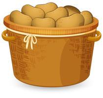 Uma cesta de batata vetor