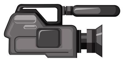 Uma câmera de vídeo profissional