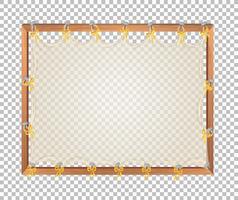 Placa de madeira em branco transparente
