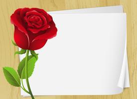 Design de moldura com rosa vermelha vetor