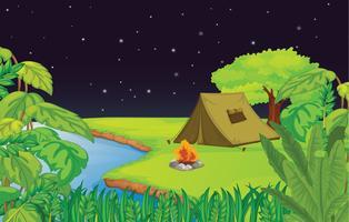 acampamento vetor