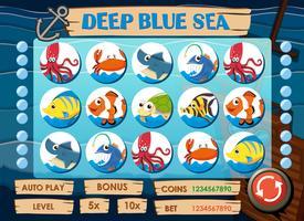 Modelo de jogo com animais marinhos vetor