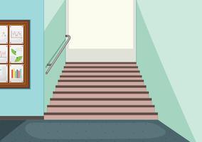 Fundo de escadaria do corredor vazio vetor