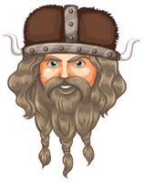 Uma cabeça de viking vetor