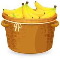 Banana na cesta vetor