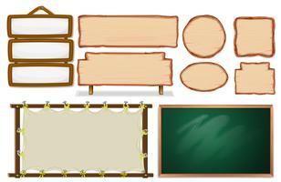 Conjunto de tabuleiro vazio vetor