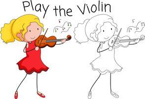 Um músico de violino vetor