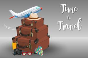 Tempo para viajar elemento vetor