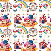 Palhaço sem emenda e passeios de circo vetor