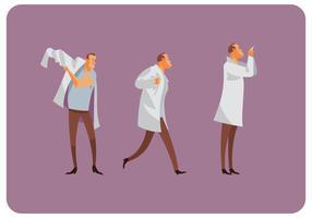 Vetor de movimento gestual do médico