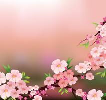 A beleza de flores frescas vetor