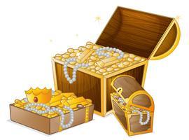 Conjunto de tesouro de ouro vetor