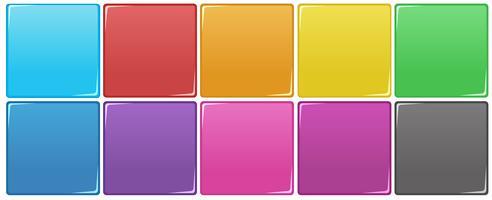 Conjunto de bloco colorido vetor